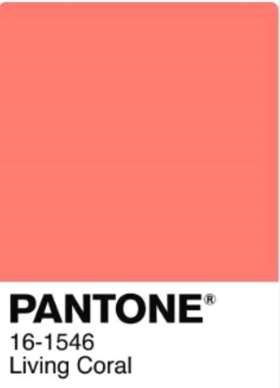Colore dell'anno 2019 PANTONE Living Coral (16-1546)
